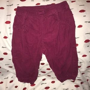 Gymboree baby 6-12 months corduroy pants 💕 red